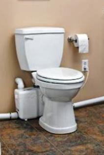 Basement flush up toilet